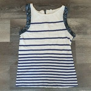 J Crew sleeveless shirt